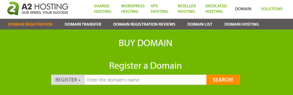 A2 Hosting Best Domain Name Provider