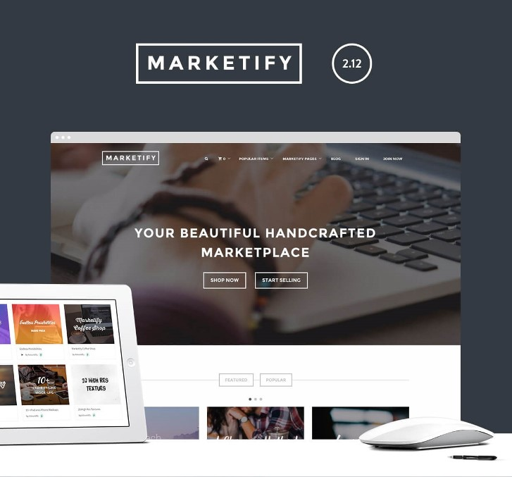 Marketfy WordPress թեման