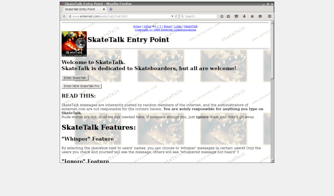 Web 1.0 Old School Website